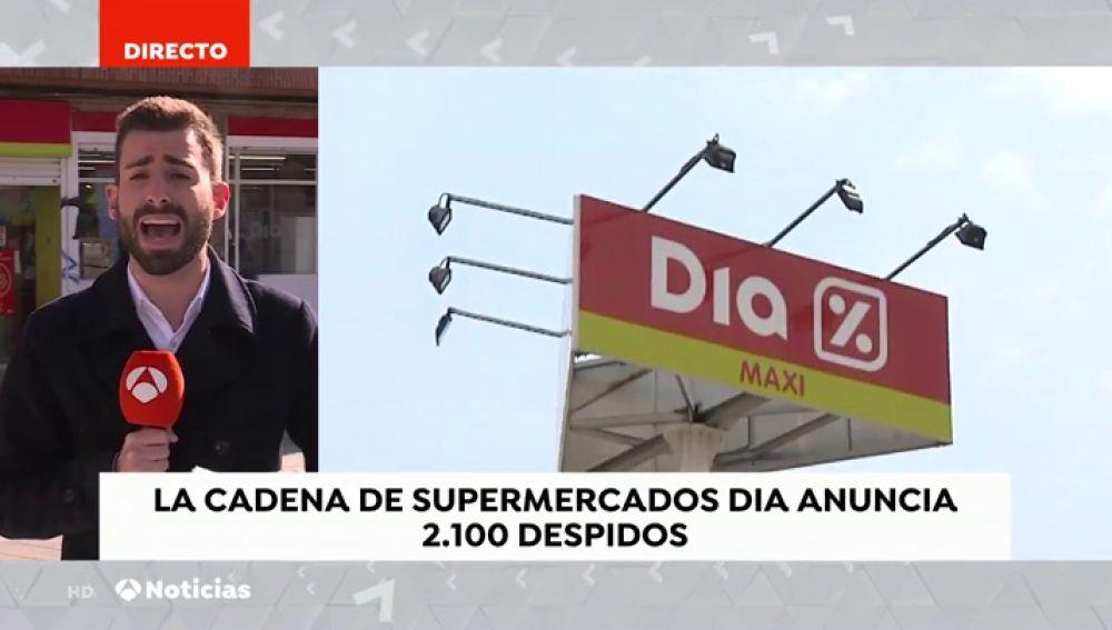 REEMPLAZO La cadena de supermercados DIA anuncia el despido de más de 2.000 personas en España