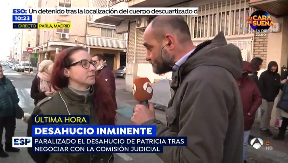 Patricia y su hijo de 11 años evitan el desahucio 'in extremis' por falta de seguridad