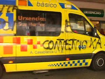Huelga de ambulancias en Galicia