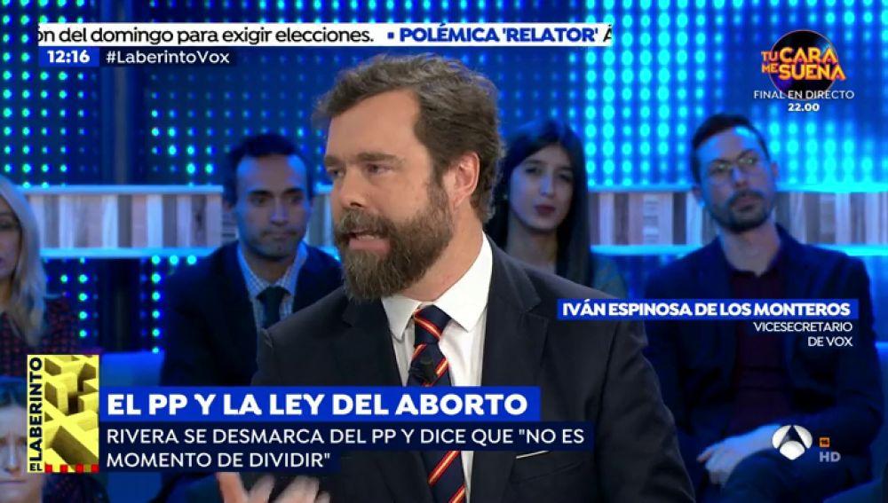 """El vicesecretario de Vox en 'Espejo Público': """"En España hay una tendencia a abortar niños con discapacidad"""""""