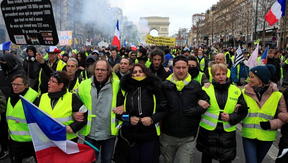 Protesta de los chalecos amarillos en París