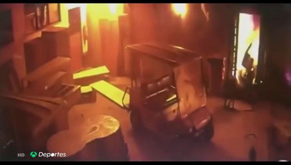 El Flamengo difunde el vídeo del momento en el que se produjo la explosión que originó el incendio de su academia