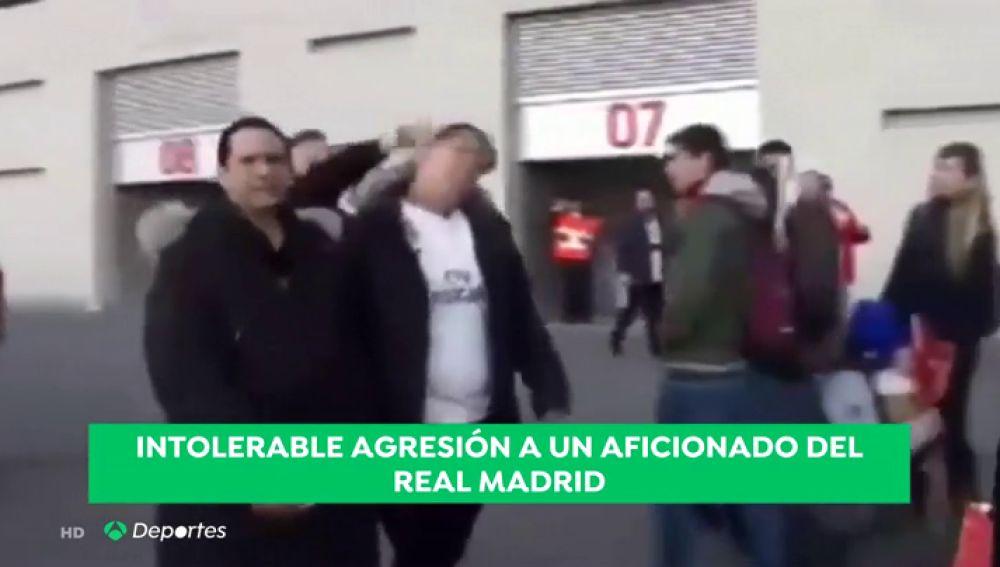 Un aficionado del Real Madrid, agredido en los aledaños del Metropolitano