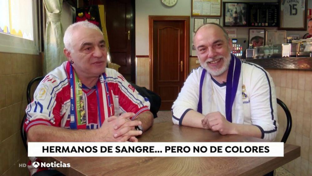 De hermanos a enemigos por un día: así viven el derbi madrileño dos aficionados del Atleti y del Real Madrid