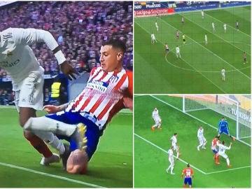 Las imágenes de la polémica para el Atlético