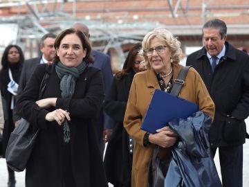 La alcaldesa de Barcelona, Ada Colau y la alcaldesa de Madrid, Manuela Carmena