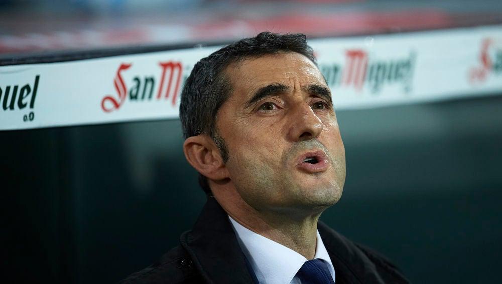 Ernesto Valverde, durante el partido contra el Athletic