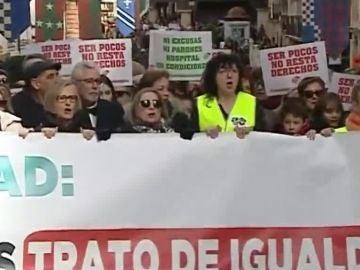 Manifestación por una Sanidad mejor en Teruel