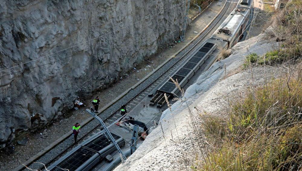 Accidente de trenes en Cataluña