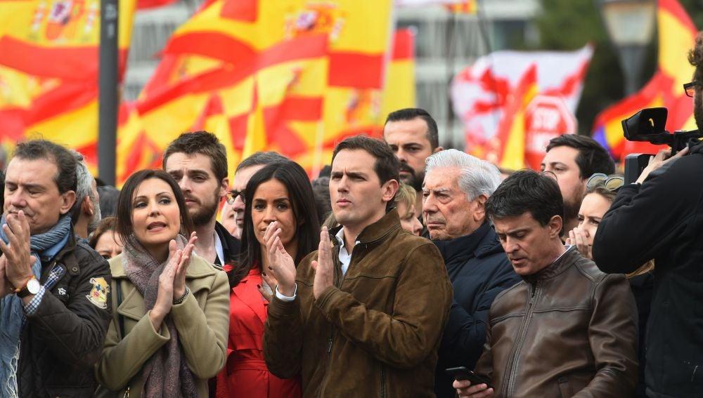 Albert Rivera, Beñoga Villacís y Manuel Valls