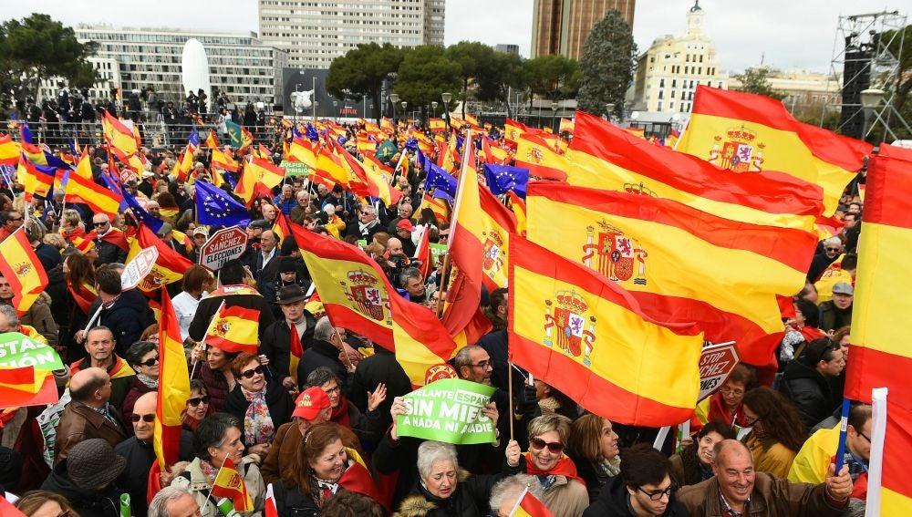 Manifestación contra Pedro Sánchez
