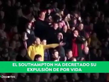 Vergonzoso: dos aficionados se burlan de la muerte de Sala en el Southampton - Cardiff