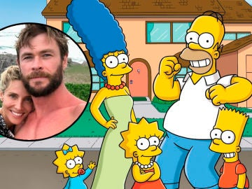 Chris Hemsworth y Elsa Pataky como 'Los Simpson'