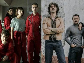 Los protagonistas de 'La Casa de Papel' y 'Fariña'