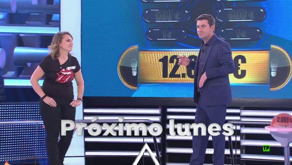 El próximo lunes 18 una concursante peleará por conseguir los 100.000 euros de '¡Ahora Caigo!'