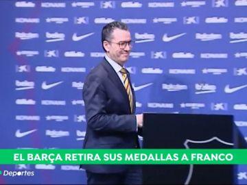 La directiva del Barcelona propone retirar las distinciones honoríficas otorgadas a Francisco Franco
