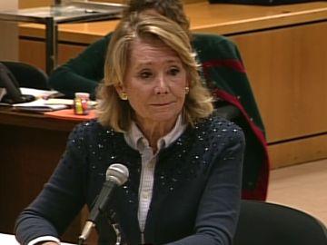 Esperanza ha recordado que se abrió una comisión de investigación en la Asamblea de Madrid en la que no se probó que se hubieran producido esos seguimientos