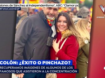 Famosos como Carmen Lomana o figuras como Juan José Cortés apoyaron la manifestación contra Pedro Sánchez