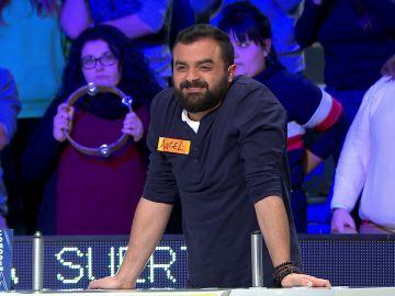 Ángel juega el bote más emocionante de 'La Ruleta de la suerte'