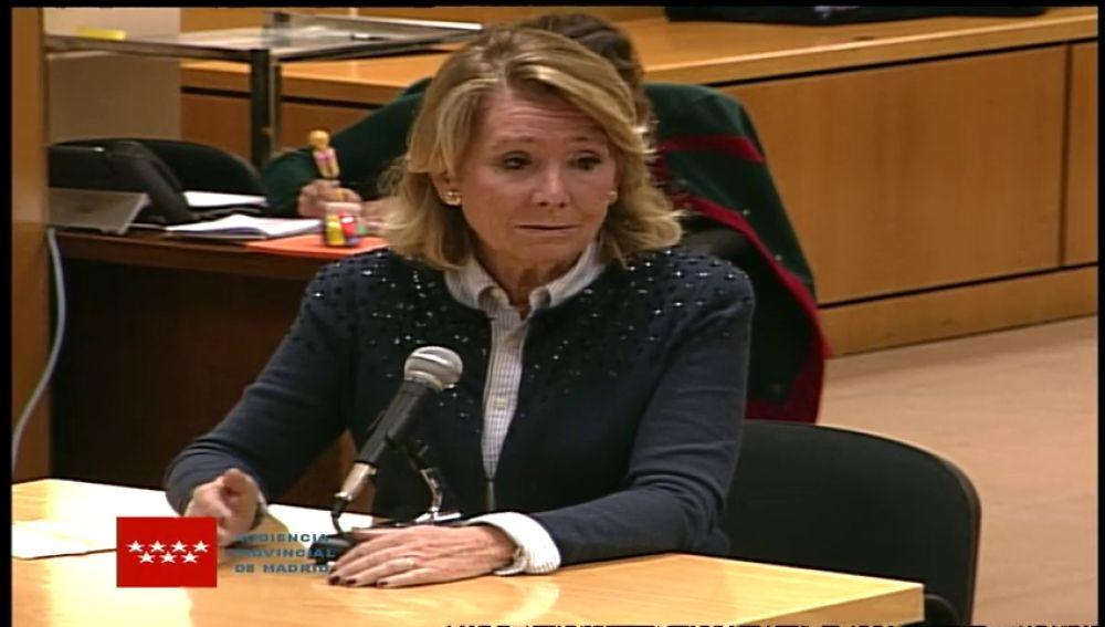 Esperanza Aguirre niega que ordenara espiar a cargos del Partido Popular