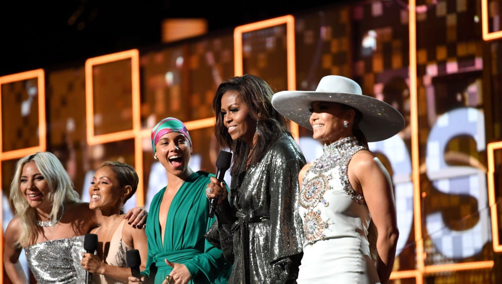 Michelle Obama, Jennifer López, Lady Gaga, Jada Pinkett Smith y Alicia Keys