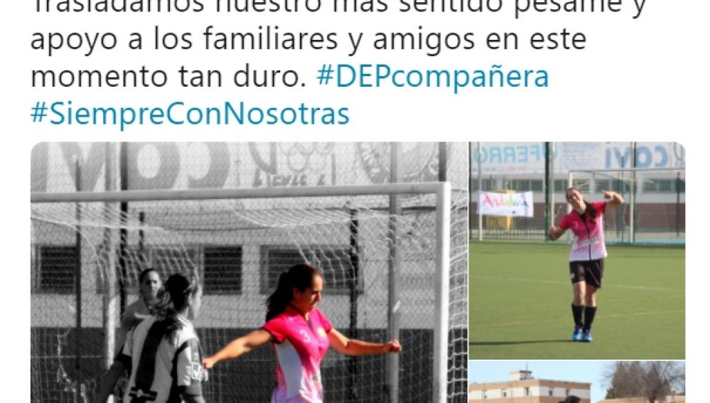 La Rambla Femenino muestra su pésame por la muerte de Raquel Delgado