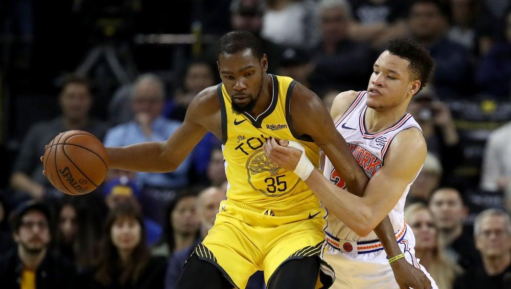 Kevin Durant, en un partido ante los Knicks