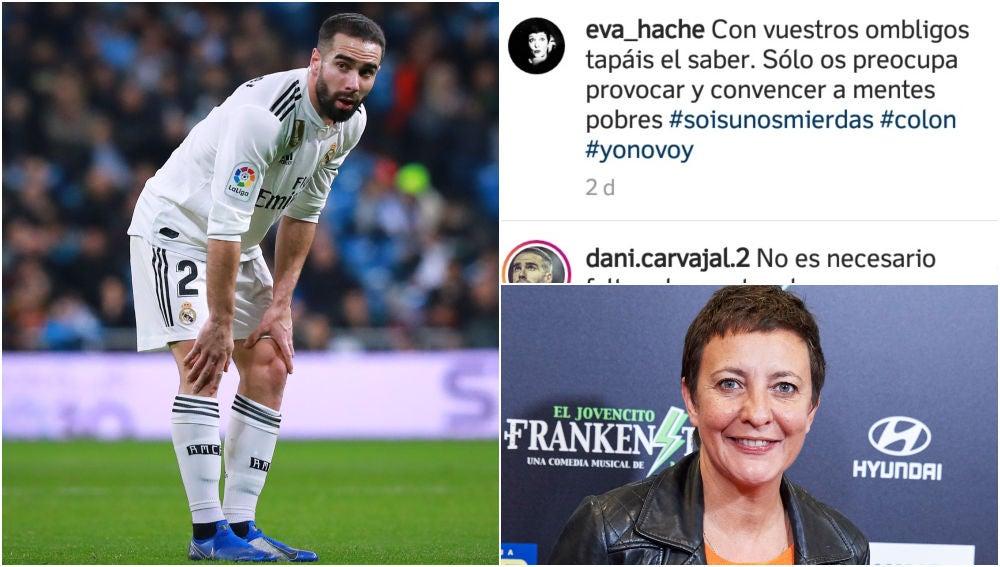 Dani Carvajal contesta a Eva Hache tras su mensaje a los manifestantes en Colón