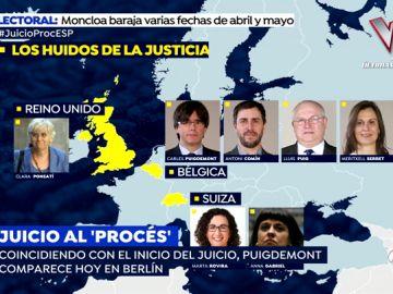 Los 7 líderes independentistas huidos de la Justicia que evitarán ser juzgados