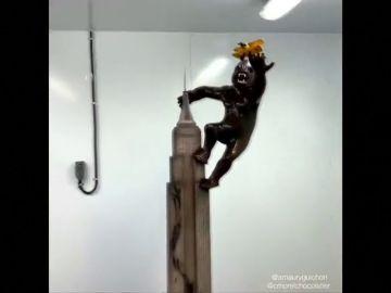 Crean una escultura con chocolate de King Kong, el gorila más famoso de la historia