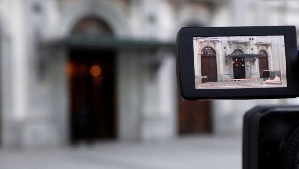 Imagen del Tribunal Supremo a través del visor de una cámara