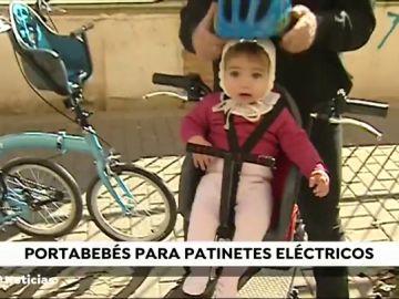 Llega al mercado la primera silla portabebés para patinetes eléctricos
