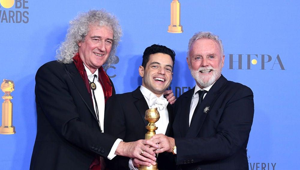 Brian May, Rami Malek y Roger Taylor