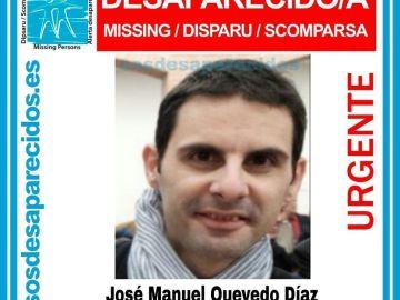 Imagen de José Manuel Quevedo Díaz, que lleva desaparecido desde el 10 de febrero