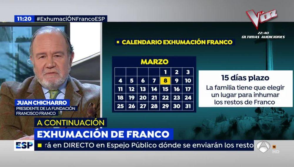 El presidente de la Fundación Francisco Franco, Juan Chicharro