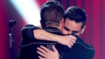 """El emotivo reencuentro de Juanjo García y Pablo López: """"Gracias a ti he seguido trabajando"""""""