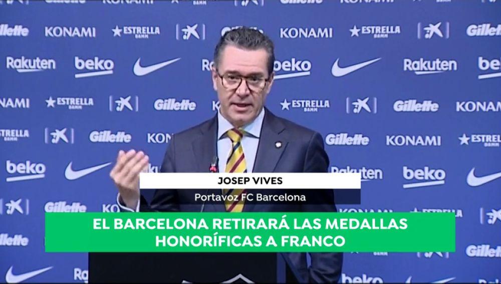 REEMPLAZO | La directiva del Barcelona propone retirar las distinciones honoríficas otorgadas a Francisco Franco