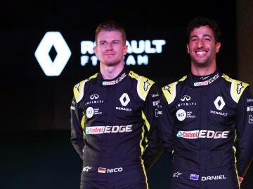 Daniel Ricciardo y Nico Hülkenberg, pilotos de Renault