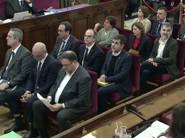 Los procesados durante el juicio del 'procés' en el Tribunal Supremo