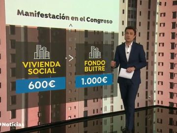 REEMPLAZO | Protesta contra los fondos buitre frente al Congreso de los Diputados