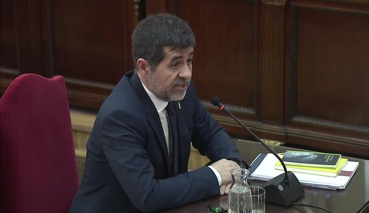 Jordi Sánchez Durante el juicio al procés