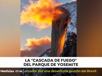 La 'cascada de fuego' del parque Yosemite.