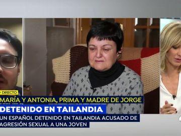 """La agonía de la madre de Jorge, el español acusado de violación en Tailandia: """"Mi hijo es inocente"""""""
