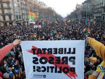 Manifestación en Cataluña