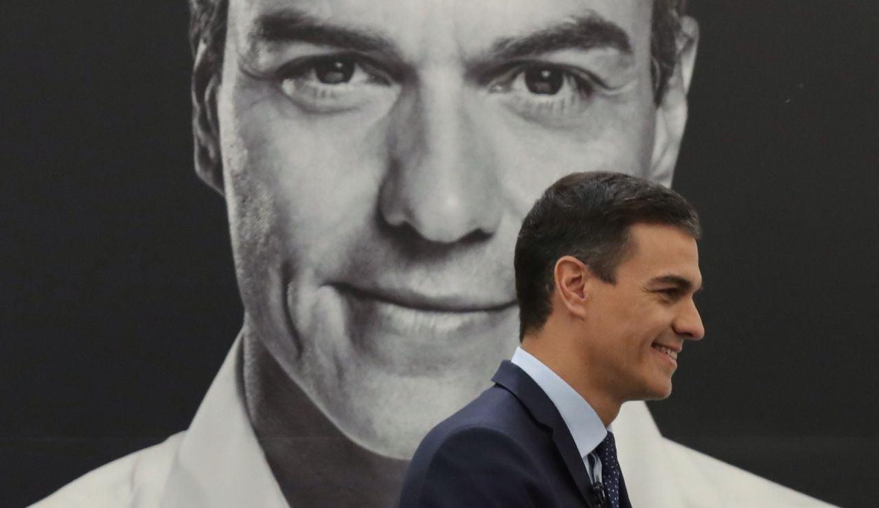 El presidente del Gobierno, Pedro Sánchez, durante la presentación de su libro