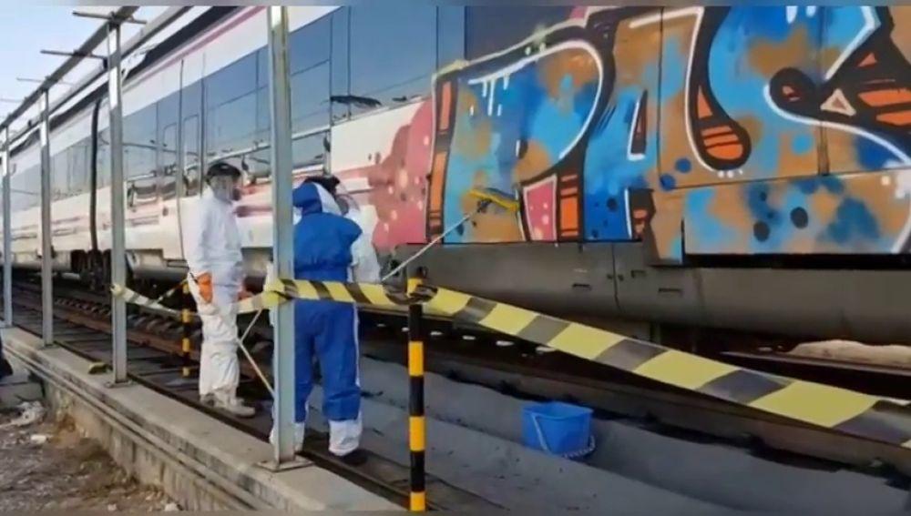 Aumentan los juicios por grafitis contra el patrimonio de Renfe