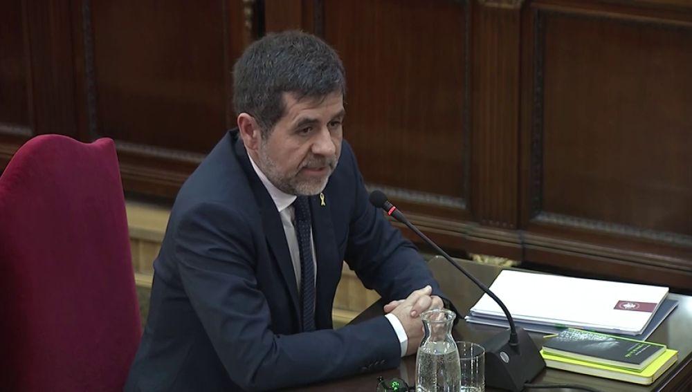 """Jordi Sánchez admite que convocó el 20-S frente a Economía para """"protestar pacíficamente"""" contra los registros y no para impedirlos"""