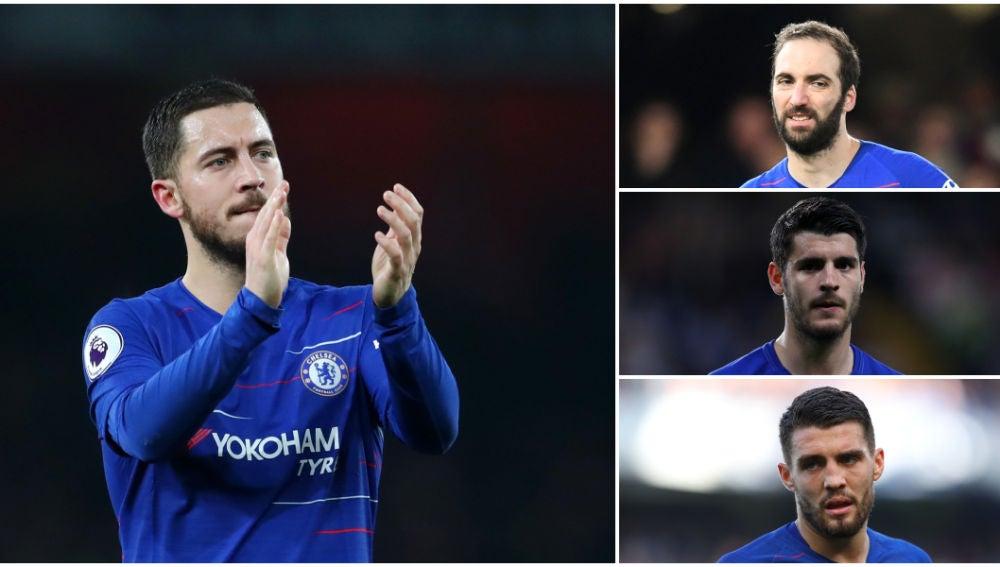Hazard, Higuaín, Morata y Kovacic