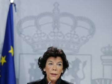 La ministra de Educación y Portavoz, Isabel Celaá