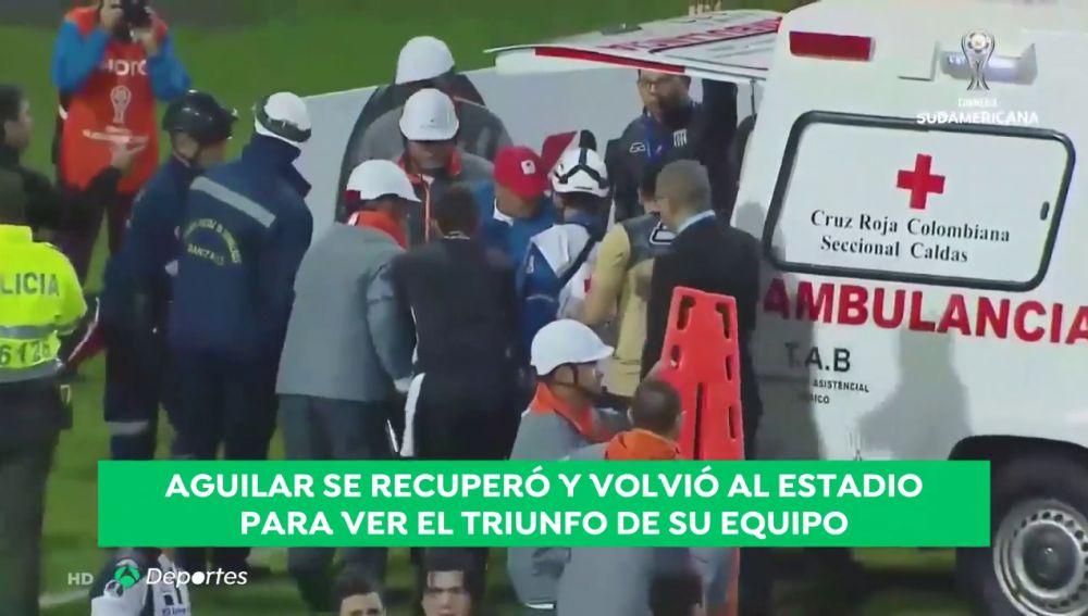 Reaniman a un jugador del Deportivo Santaní en pleno partido